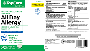 Capsule Size Chart Mg All Day Allergy Capsule Top Care Topco Associates Llc