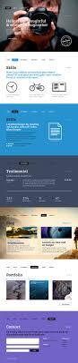 Best One Page Design Best Single Page Web Templates Web Design Graphic Design