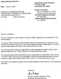 sle irs non profit determination letter invisite co