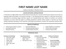 Junior Systems Administrator Resume Ender Realtypark Co