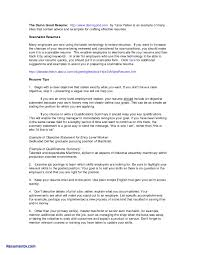 Resume Summary Examples Sample Resume With Summary Of Qualifications Samples Of Resume 32