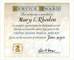 Years Of Service Award Wording Horizontal Award Template Format Jordanm Co