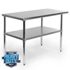 stainless steel commercial kitchen work food prep table   x