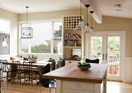transitional pendant lighting kitchen farmhouse with drum light butcher block counters pendant lights