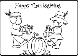 Thanksgiving Indian Coloring Pages Coloring Pages For Thanksgiving