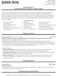 Supply Chain Analyst Resume Logistics Analyst Resume Sample Business ...