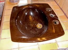 bathroom sink reglazing refinishing before