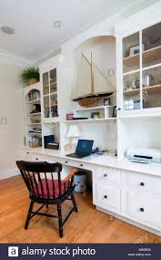 custom home office design stock. Custom Home Office With Built In Cabinets - Stock Image Design E