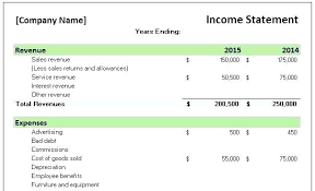 Simple Income Statement Simple Income Statement Template Excel Financial Monthly Tem