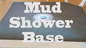 all glass tile shower step by step part 2 shower mud base and bonding