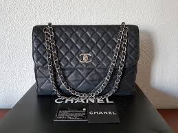 chanel black quilted leather in the business flap bag shoulder bag