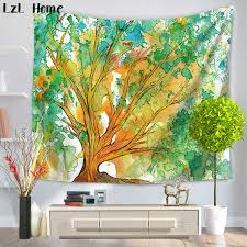 lzl home 3d creative watercolor colourful life tree animal tapestry wall art hanging for bedroom livingroom on 3d wall art life tree with lzl home 3d creative watercolor colourful life tree animal tapestry
