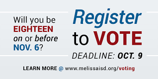 Melissaisd Vote Deadline To org Register