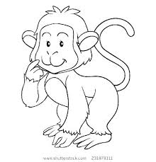 Monkey Coloring Picture Pages Printable Colouring Pictures Monkeys