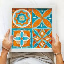 make a ceramic tile wall art live