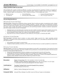 Resume Staff Accounting Resume Objective Statement Examples