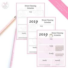 House Cleaning Chart House Cleaning Schedule Household Planner Printable Insert Yearly Chore Chart Bullet Journal Printable Pages Personal Tracker
