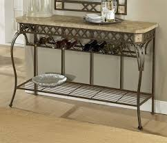 image of iron console table hallway