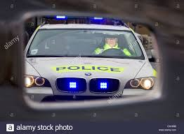 Cop Lights Rear View Mirror View In Rear View Mirror Traffic Police Car Drink Driving