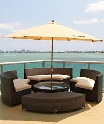 wicker patio table with umbrella hole