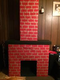 diy fake fireplace cardboard