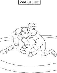 Small Picture For Kids Wrestling Coloring Pages Printable 68 For Line Drawings