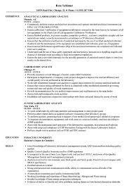 Laboratory Analyst Resume Samples Velvet Jobs