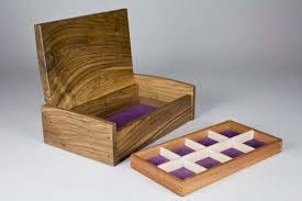 handcrafted jewellery box in english walnut