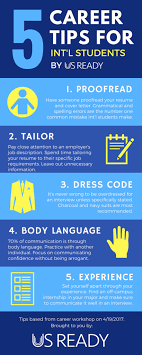 5 Career Tips For International Students Infographic