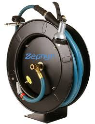zephyr auto retractable garden hose reel with rubber water hose spray never coil a garden hose again save water time effort greenmylife