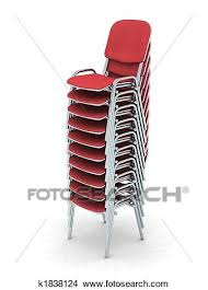 stacked chairs clipart. Perfect Clipart Digital Render Of Ten Stacked Red Chairs With Stacked Chairs Clipart