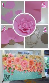 Paper Flower Photo Booth Backdrop Paper Flower Photo Booth Backdrop Under Fontanacountryinn Com