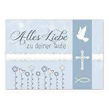 Glückwunschkarte Taufe Mit Umschlagmoderne Vintage Karte Blau
