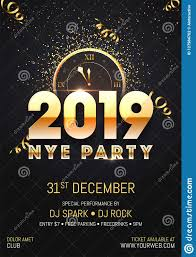 new year s template creative 2019 nye new year eve party template or flyer