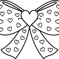 Small Picture Bows Coloring Pages AZ Coloring Pages Ribbon Bow Coloring Page In