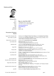 Curriculum Vitae Format New Zealand Professional Resumes Sample