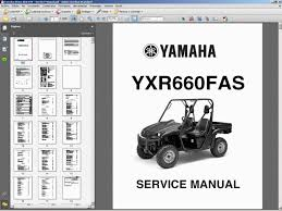 yamaha rhino utv 450 660 amp 700 service workshop repair ejemplos de manuales sample manuals