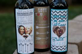 Diy Wine Bottle Labels 5 Fun Diy Ways To Ask Will You Be My Bridesmaid