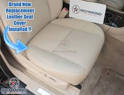 2009 2016 cadillac escalade leather seat cover driver bottom tan