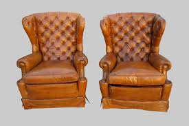Leather Wingback Chair For Sale Original 1920s Leather Wingback Chairs Bourgeois Boheme