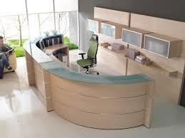 modern half circular ikea reception desk for wonderful office ideas with green ergonomic chair