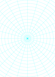 Polar Graph Paper With 15 Degree Angles And 1 2 Inch Radials