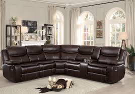 bastrop brown leather reclining sectional main image