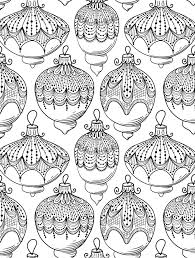 Detailed Christmas Coloring Pages Free Ornaments For Coloring