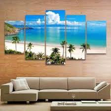 <b>5 Pieces</b> HD Print Canvas Art Sunrise Landscape <b>Modular Pictures</b> ...
