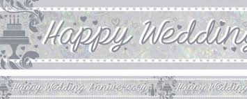 happy anniversary banners anniversary banners woodies party