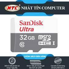 Bán Thẻ nhớ MicroSDHC SanDisk Ultra 32GB Class 10 80MB/s - Version 2018  (Xám)