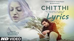 oh sathi Teri chitthi pate pe aaye na lyrics video song | CHITTHI ...