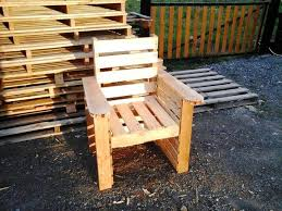 self made pallet chair