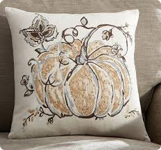 Gilded Pumpkin Palampore Pillow Cover From Pottery Barn